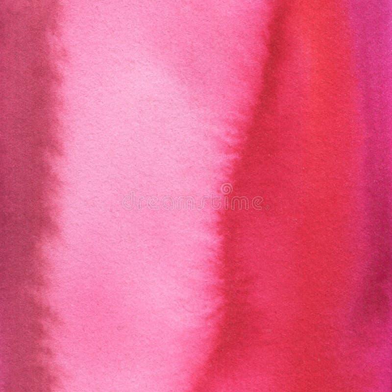 Gemalter rosa Hintergrund Bedruckbare Beschaffenheit des Aquarells lizenzfreie stockfotografie