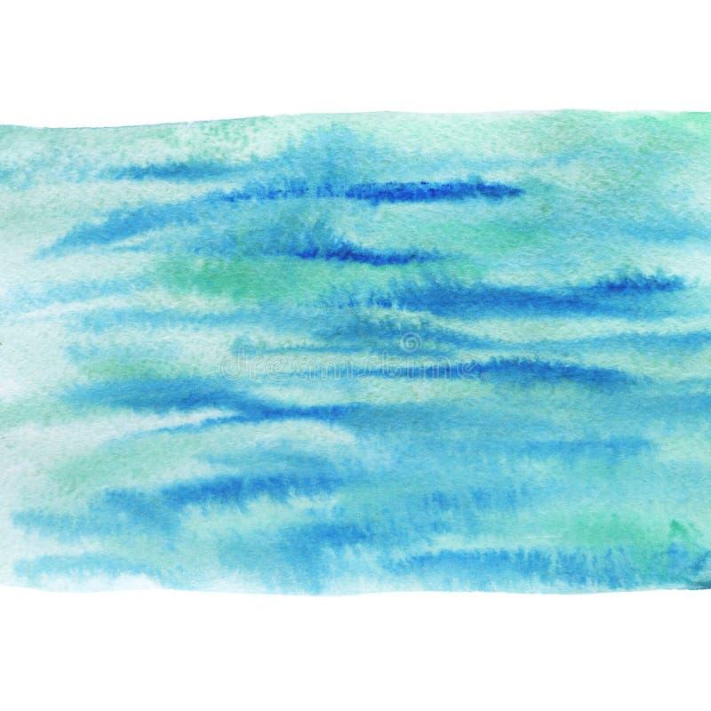 Gemalter Seehintergrund Bedruckbare Beschaffenheit des Aquarells stockbilder