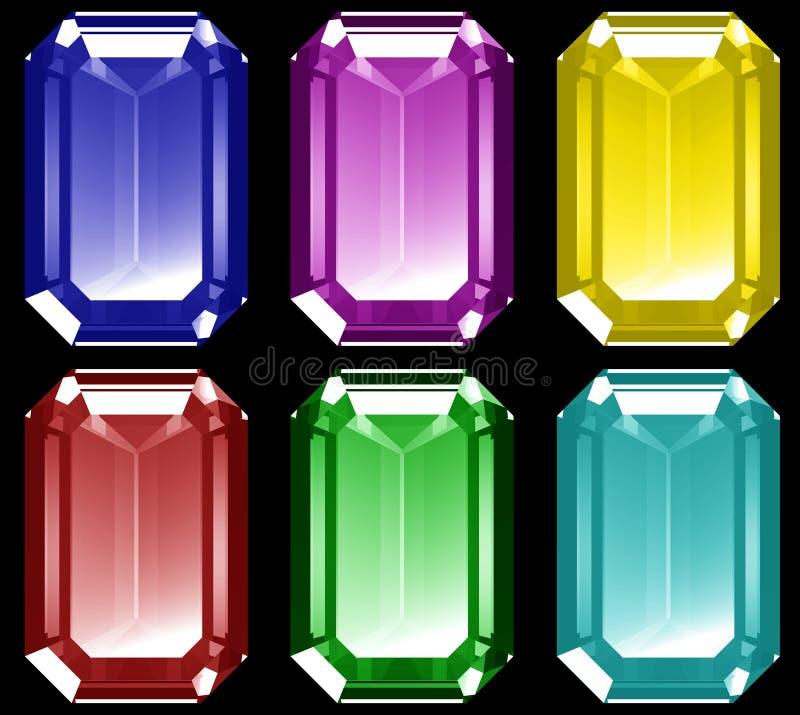 gemas 3d ilustração royalty free