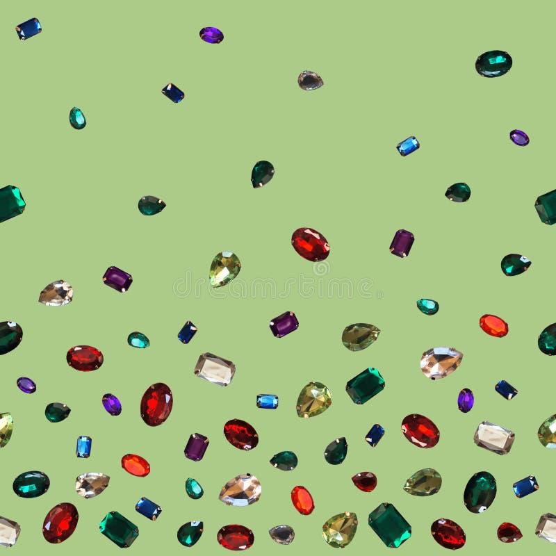 Gemas chispeantes de los brillos de la joyería de las piedras brillantes coloridas del encanto foto de archivo