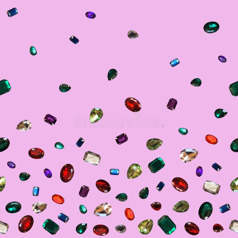 Gemas chispeantes de los brillos de la joyería de las piedras brillantes coloridas del encanto fotografía de archivo