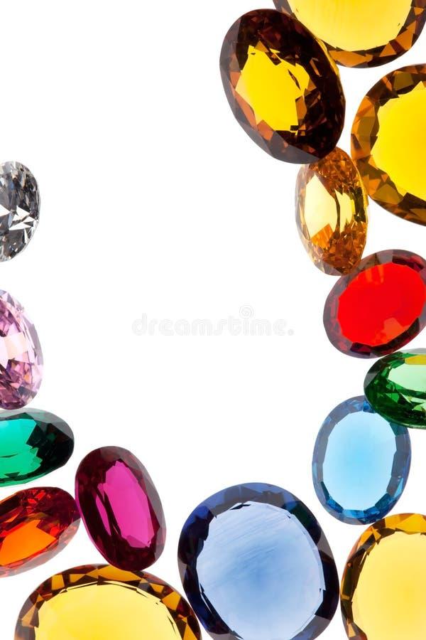 Gemas coloridas fotografía de archivo libre de regalías