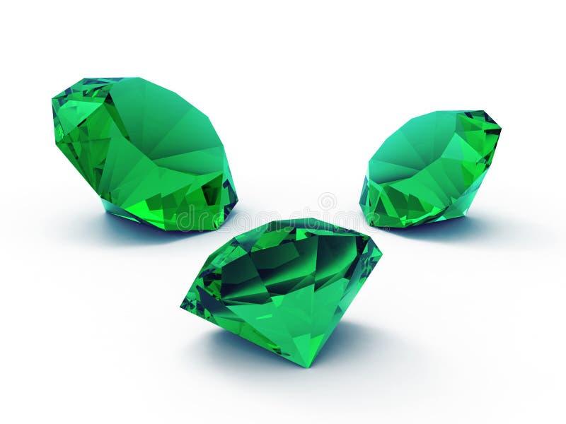 Gemas esmeralda hermosas stock de ilustración