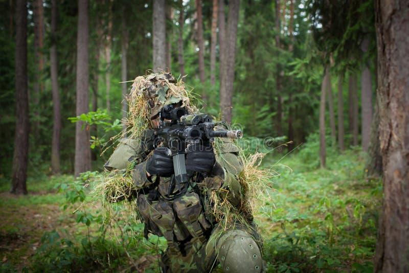 Gemaskeerde militair royalty-vrije stock fotografie
