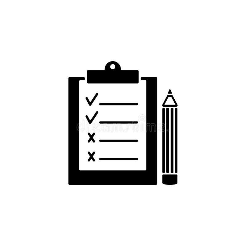 Gembräde och penna av svarta symboler vektor illustrationer