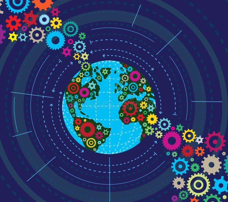 Gemechaniseerde Aarde royalty-vrije illustratie