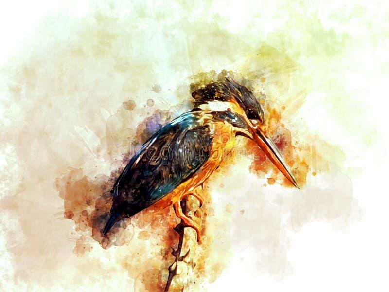 Gemeenschappelijk Ijsvogel Digitaal Art. royalty-vrije stock afbeelding