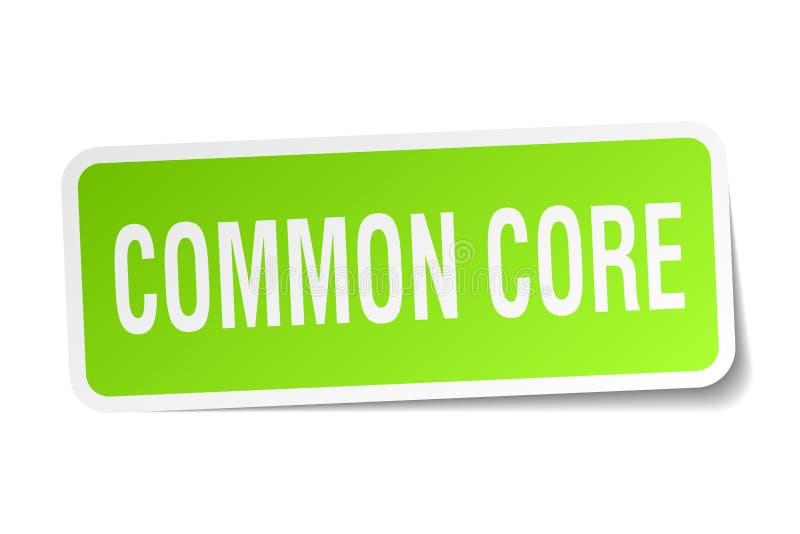 Gemeenschappelijke kern vierkante sticker stock illustratie
