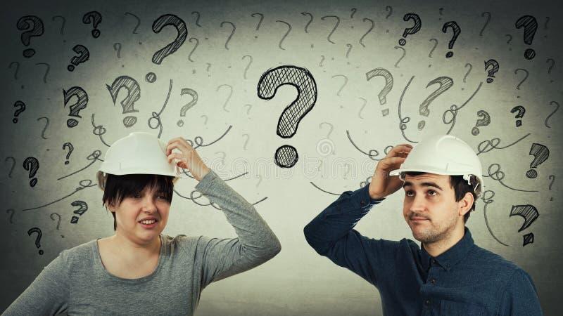Gemeenschappelijke vragen royalty-vrije stock afbeeldingen