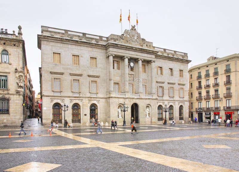 Gemeentebestuur van Barcelona in Barcelona spanje stock foto