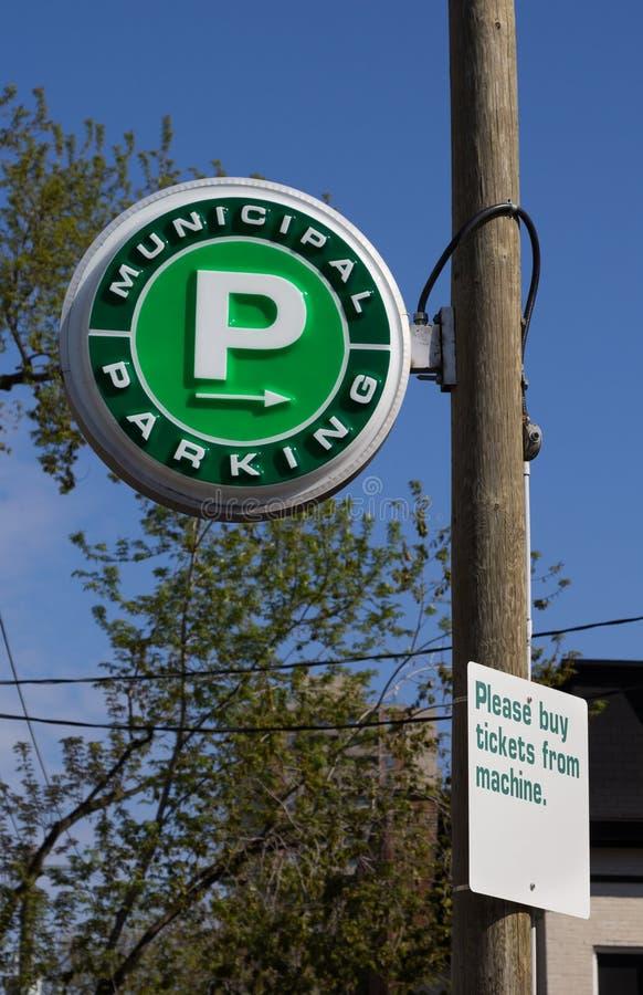 Gemeentelijk Parkeren stock fotografie