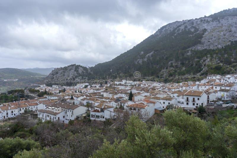 Gemeenten in de provincie van Cadiz, Grazalema royalty-vrije stock afbeelding