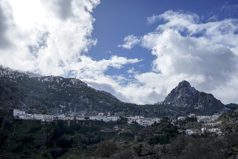 Gemeenten in de provincie van Cadiz, Grazalema stock afbeeldingen