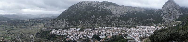 Gemeenten in de provincie van Cadiz, Grazalema royalty-vrije stock foto