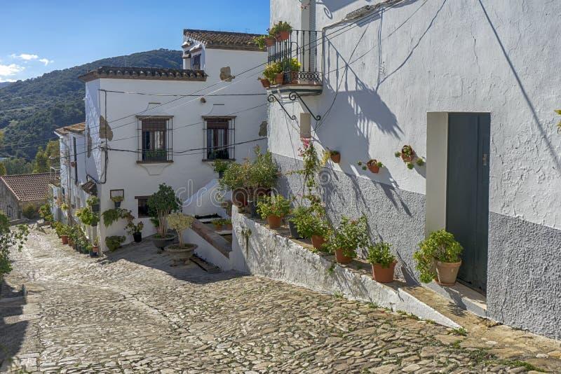 Gemeenten van de provincie van Cadiz, Jimena de la Frontera, Spanje royalty-vrije stock afbeeldingen