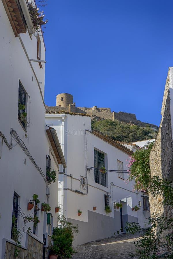 Gemeenten van de provincie van Cadiz, Jimena de la Frontera, Spanje stock afbeelding