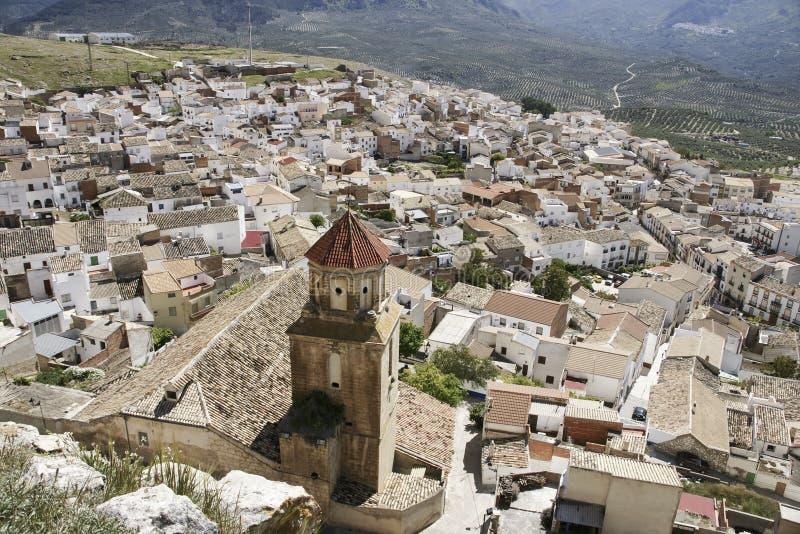 Gemeenten van de provincie van Jaén, Bedmar en Agosie Bosch stock foto