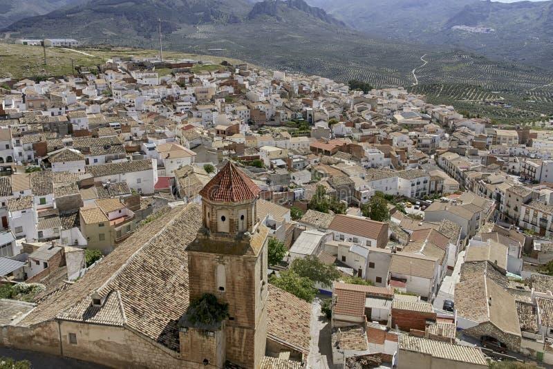 Gemeenten van de provincie van Jaén, Bedmar en Agosie Bosch royalty-vrije stock afbeelding
