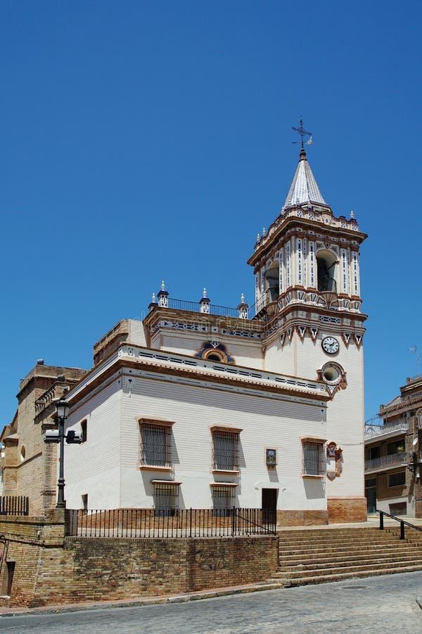 Gemeinde-Kirche Iglesia De San Pedro in Huelva Spanien lizenzfreie stockbilder