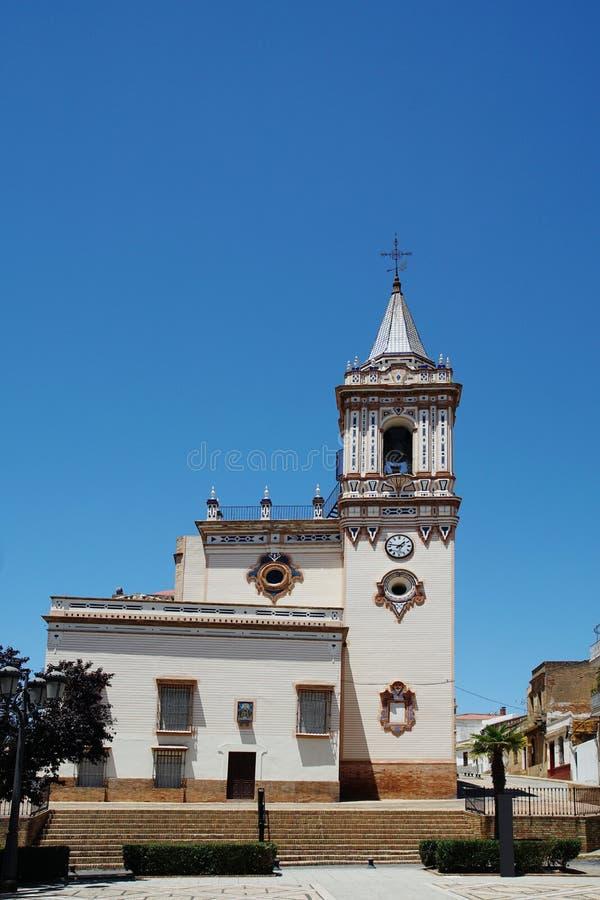 Gemeinde-Kirche Iglesia De San Pedro in Huelva Spanien lizenzfreies stockbild