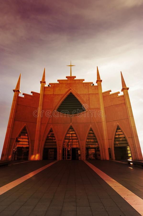 Gemeinde vom heiligen gehört stockfotografie