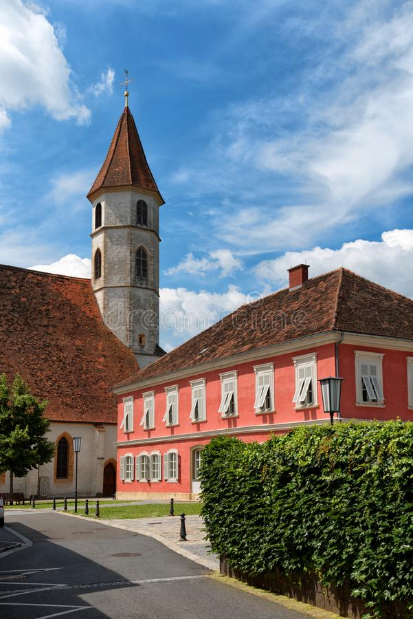 Gemeindekirche von schlechtem Radkersburg, Österreich lizenzfreie stockbilder