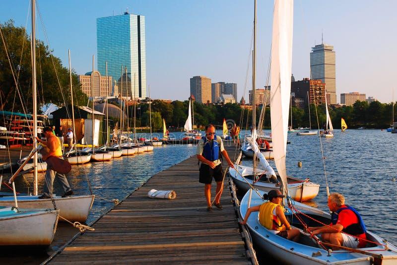 Gemeinschaftsbootfahrt, Boston stockfoto