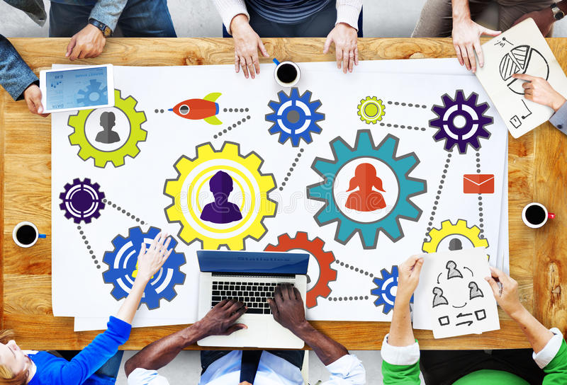 Gemeinschaftsgeschäft Team Partnership Collaboration Support Concep lizenzfreies stockfoto