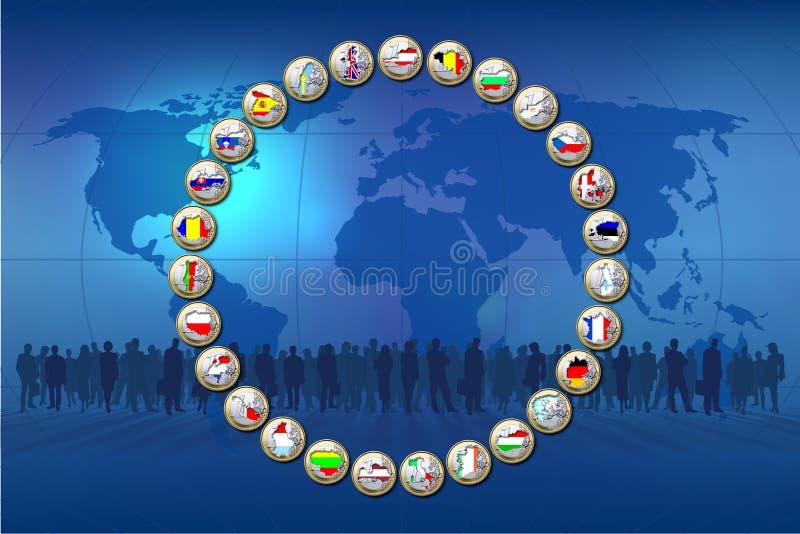 Gemeinschaftsländer lizenzfreie abbildung