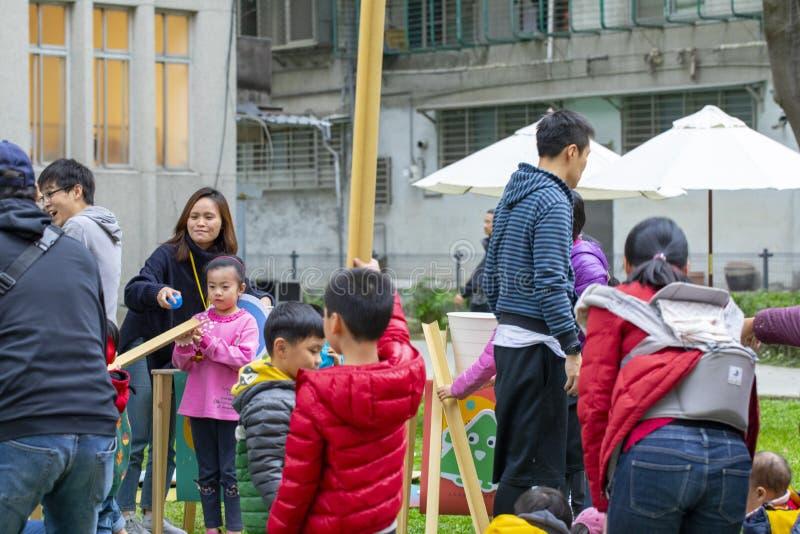 Gemeinschaftstätigkeits-Mitte, Limin-Erholung, neue Taipeh Stadt Taiwans, Leben-Festival stockbilder