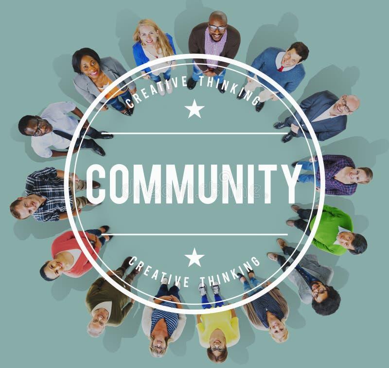 Gemeinschaftsverschiedenartigkeits-Gesellschafts-Leute-Gruppen-Konzept lizenzfreie stockfotografie