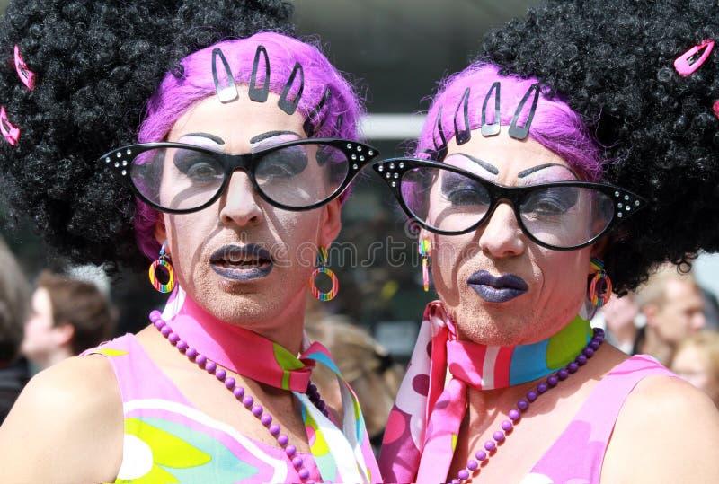 Gemelli gai immagini stock libere da diritti