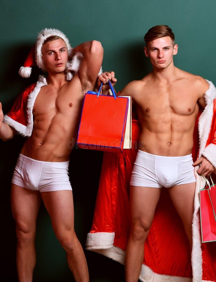 Gemelli macho bei di Santa fotografia stock libera da diritti