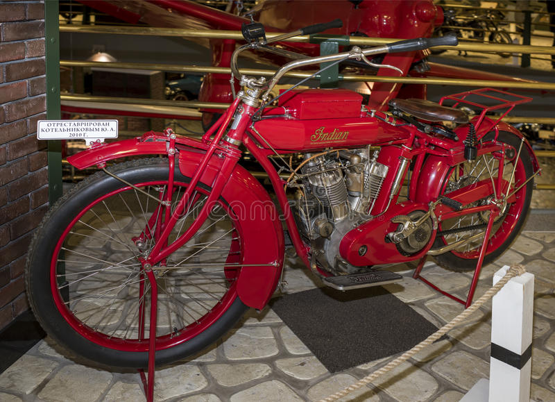 Gemello indiano del motociclo grande, G di modello, 1915 fotografia stock