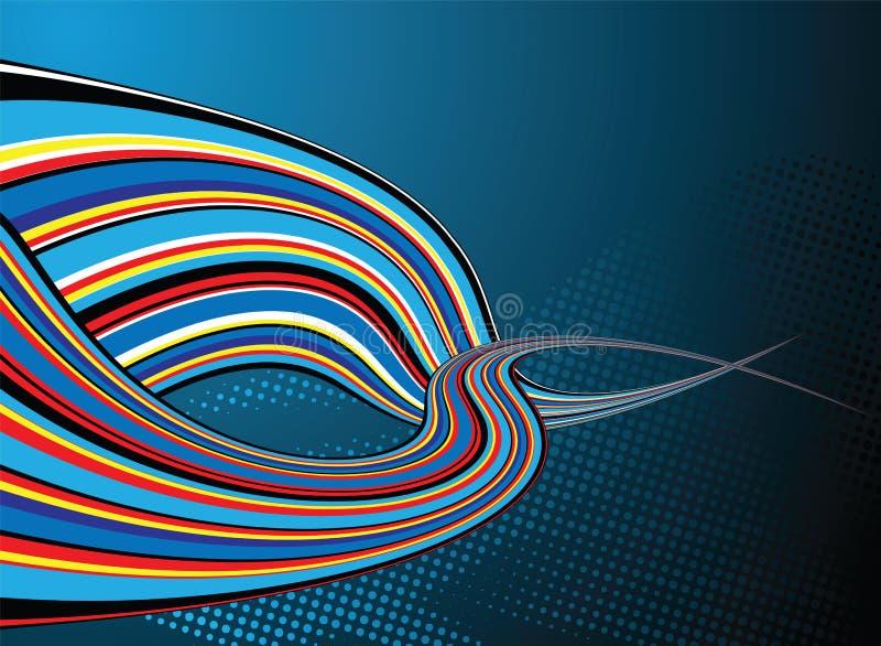 Gemelo del arco iris ilustración del vector