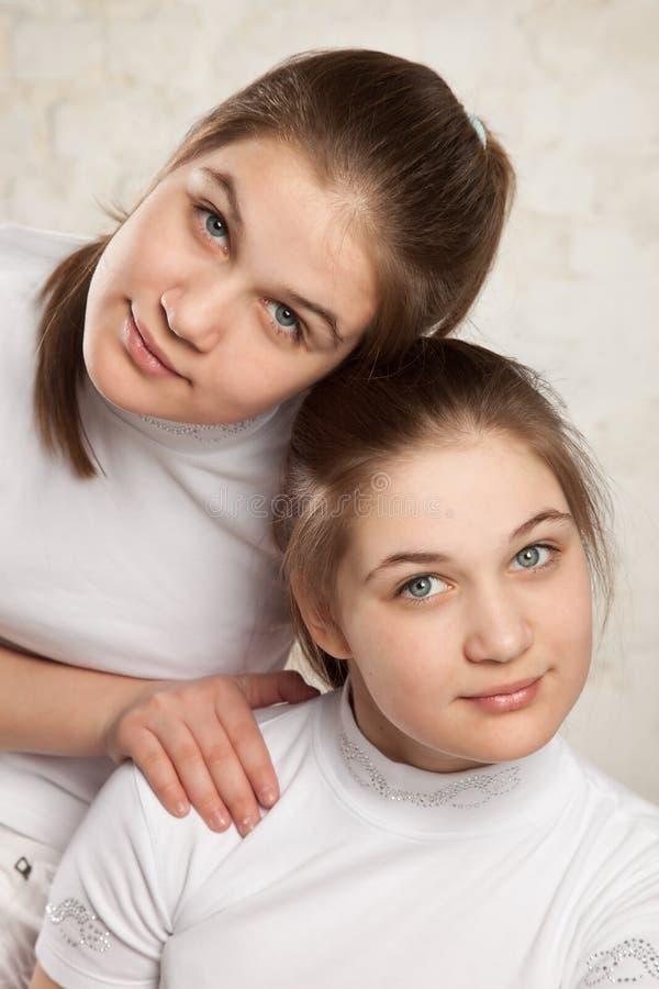 Gemelos de las hermanas fotografía de archivo libre de regalías