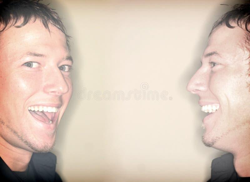 Gemelos felices imagen de archivo