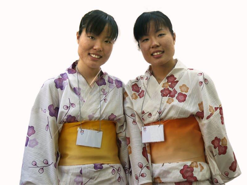 Gemelos japoneses foto de archivo