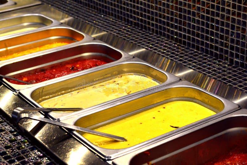 Gemengd Aziatisch voedsel stock foto's