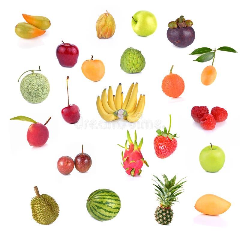 Gemengd Fruit op Witte Achtergrond royalty-vrije stock fotografie