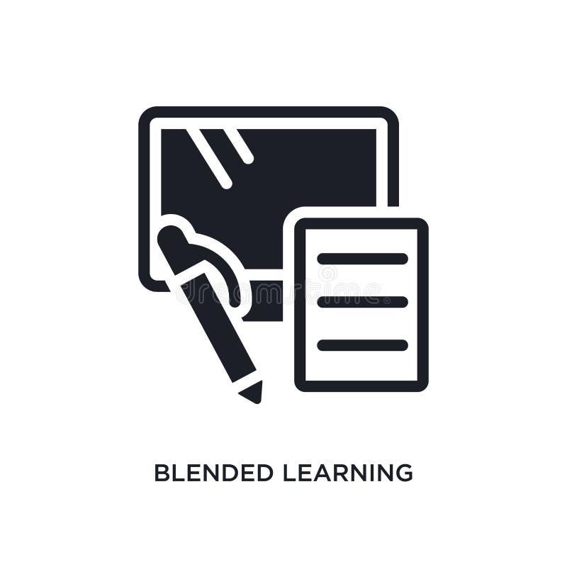gemengd het leren geïsoleerd pictogram eenvoudige elementenillustratie van e-lerend en onderwijs conceptenpictogrammen het gemeng vector illustratie