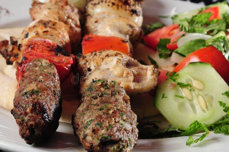 Gemengd kebab stock foto's