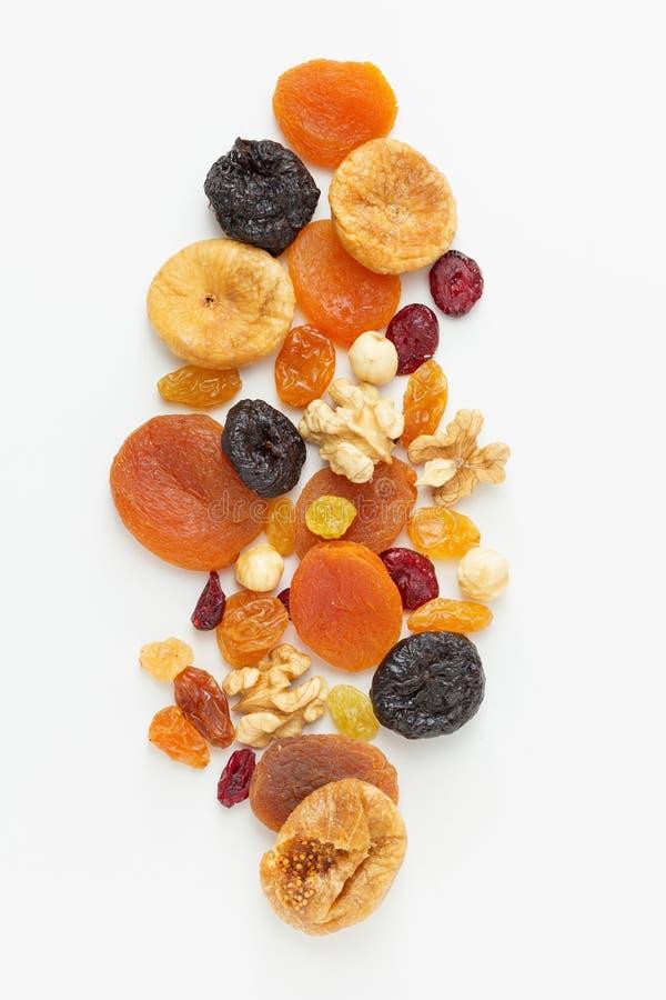 Gemengde droge vruchten en noten stock foto