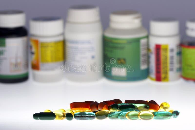 Gemengde drugs stock afbeeldingen
