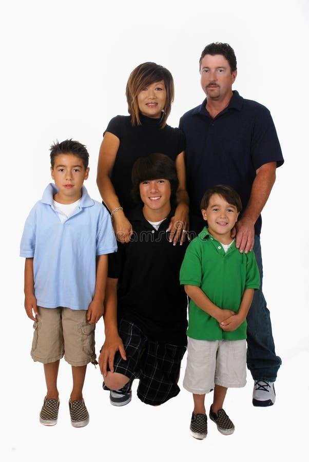 Gemengde Familie Stock Afbeelding
