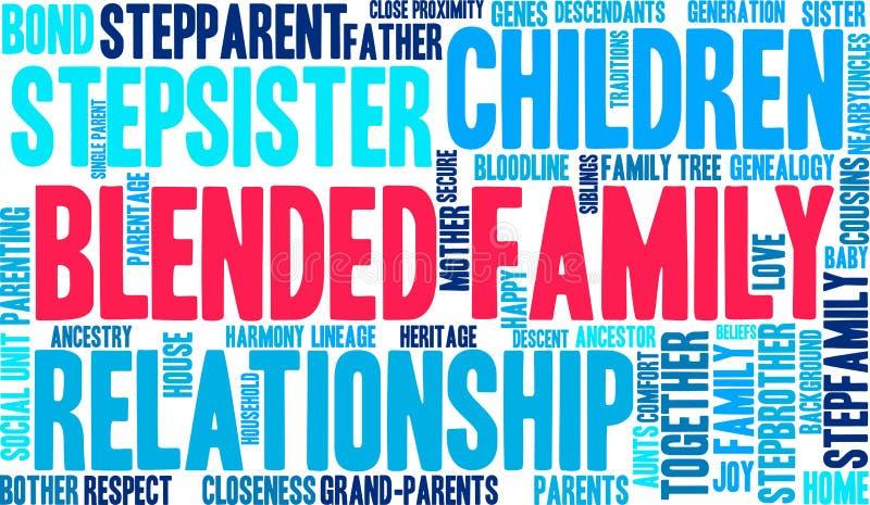Gemengde Familieword Wolk royalty-vrije illustratie