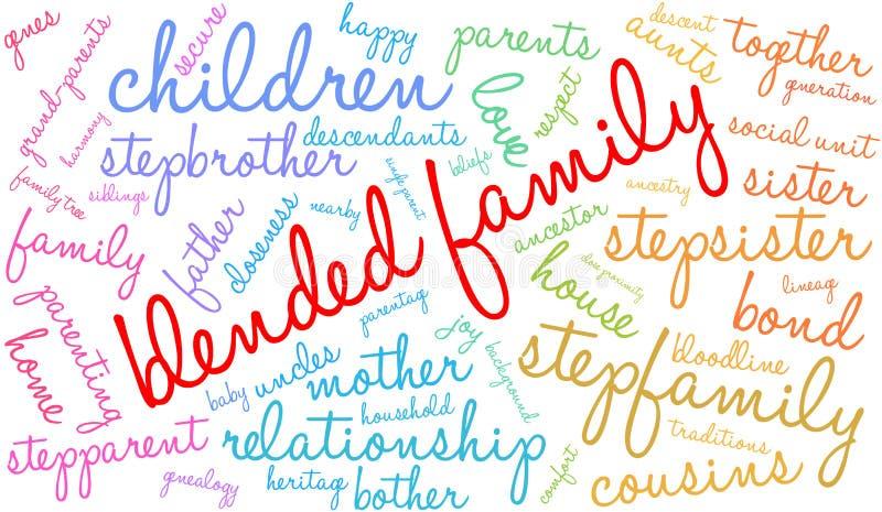 Gemengde Familieword Wolk vector illustratie