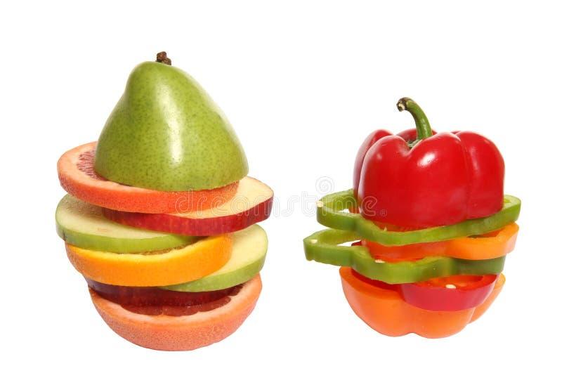 Gemengde Fruit en Veggies stock fotografie