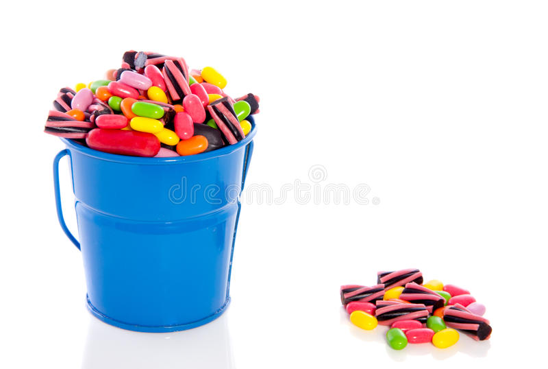 Gemengde kleurrijke suikergoedsnoepjes royalty-vrije stock afbeeldingen