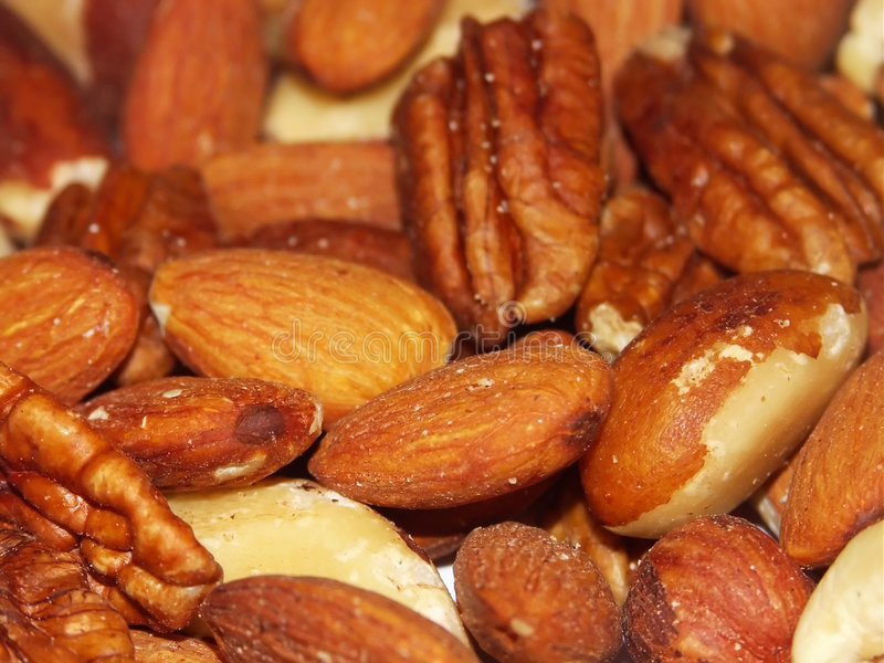 Gemengde noten stock afbeeldingen